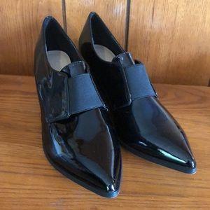 Women's ASOS black patent shoes